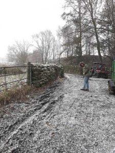 snow at incredible farm